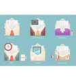 a set of characters of different envelope vector image