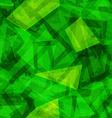 green geometric seamless pattern vector image