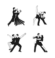 Dance Icons Set vector image