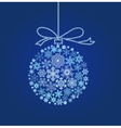Blue Christmas ball - vector image