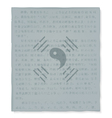 Sign the Yin and Yan on old paper vector image