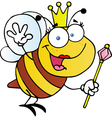 Queen Bee Cartoon Character vector image vector image