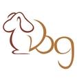 Dog symbol vector image