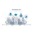 eco-friendly technology communication progress vector image