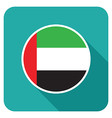 flat uae icon vector image