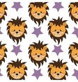 lion and stars background vector image