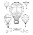 Aeronautica poster with hot air balloons vector image