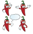 Thinking chili pepper set vector image vector image