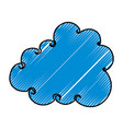 cute cloud drawing icon vector image