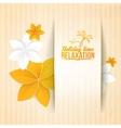 Autumn flower on card vector image
