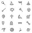 Halloween Line Icons 6 vector image