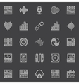 Musical studio linear icons vector image