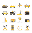 transportation and holiday icons vector image vector image