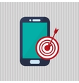 Technology design smartphone icon colorful vector image