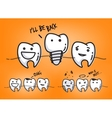 Teeth juicy orange cartoons vector image vector image