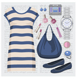 Fashion set with a tunic vector image vector image