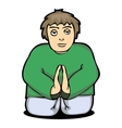 a man pray to God from vector image