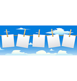 Banner with five paper notes vector image