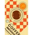 Coffee and Orange Cupcake vector image
