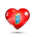 heart icon with a mobile phone vector image