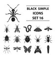 insects set icons in black style big collection vector image