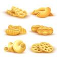 italian pasta and spaghetti 3d realistic vector image