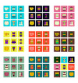 set pixel icons of fast food vector image