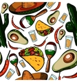 Hand drawn Mexico pattern vector image
