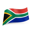national flag of south africa representing vector image