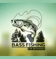 bass fishing emblem on blur background