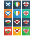 british isles and ireland icons vector image vector image