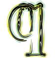 font letter q vector image vector image