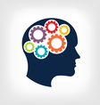 Head gears Abstraction of thinking mind vector image vector image