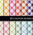 20 color seamless patterns vector image