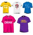 fun tshirts vector image vector image