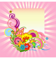 funky flower design vector image vector image
