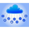 cloud and application icons vector image vector image