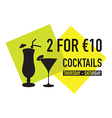 two for ten euro deal vector image vector image