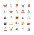 Christmas Colored Icons 1 vector image
