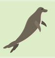 hawaiian monk seal swimming animal hawaii mammal vector image
