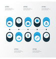 medicine colorful icons set collection of first vector image
