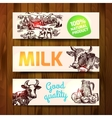 milk product sketch vector image