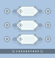 modern numerical line banners icons set on blue vector image