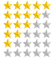 rating golden stars set vector image