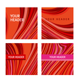 red and pink wave concept line modern background vector image