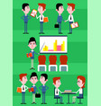 colorful business people infographic concept vector image vector image