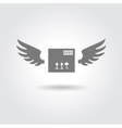 delivery box logo vector image