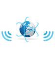 Network planet waves vector image