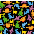 dinosaurs seamless pattern vector image vector image