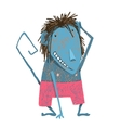 Comical Monkey Cartoon Character vector image